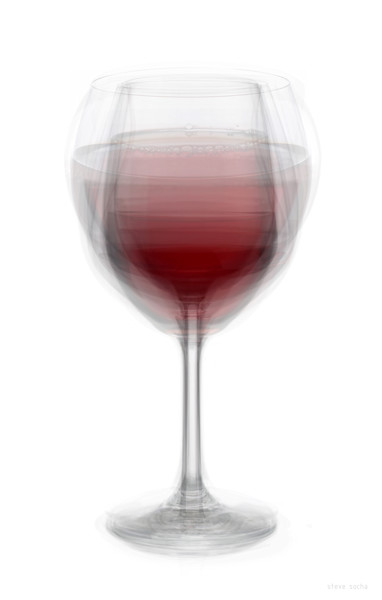 Overlay art – contemporary fine art prints of a Red Wine Glass