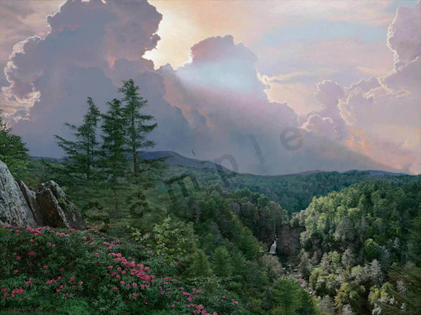 Where the Rhododendron Grow on Fine Art Paper and Canvas for Sale