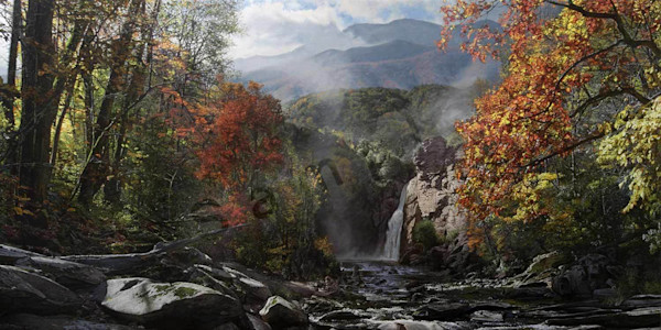 Smoky Mountain Grandeur- Mount LeConte on Fine Art Paper and Canvas for Sale