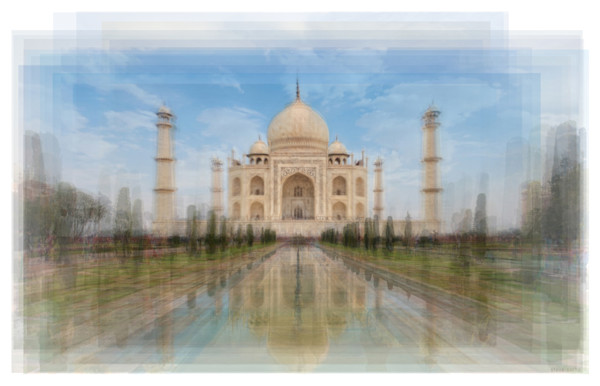 Overlay art – contemporary fine art prints of the Taj Mahal