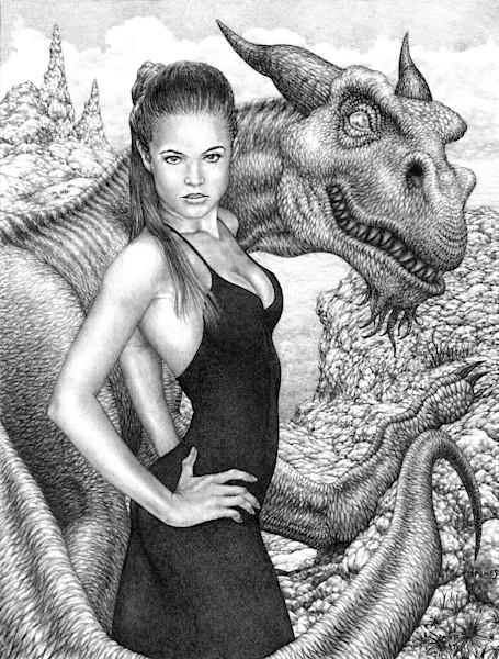 The Dragon's Temptress fantasy art print