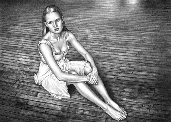 Rebecca ballet portrait art print