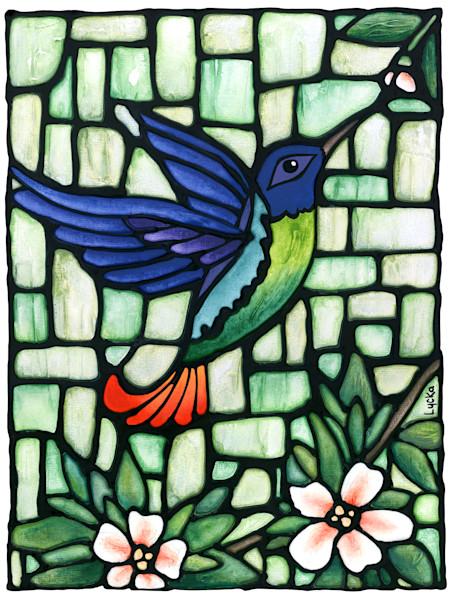 Purple Hummingbird Art Print for Sale | Kathy Lycka Studio