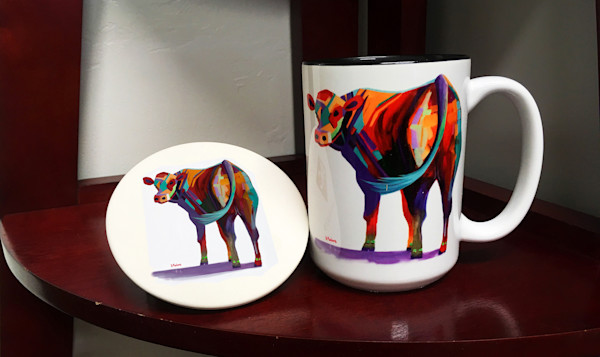 Cow Mugs & Coasters | Southwest Art Gifts | Tucson Gallery