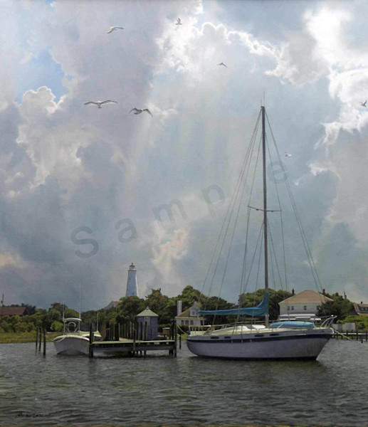 Silver Lake Harbor on Fine Art Paper and Canvas for Sale
