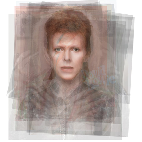 Overlay art – contemporary fine art prints of David Bowie