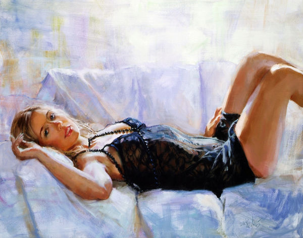 "Print of a painting by Eric Wallis titled ""Daylight Rest."""