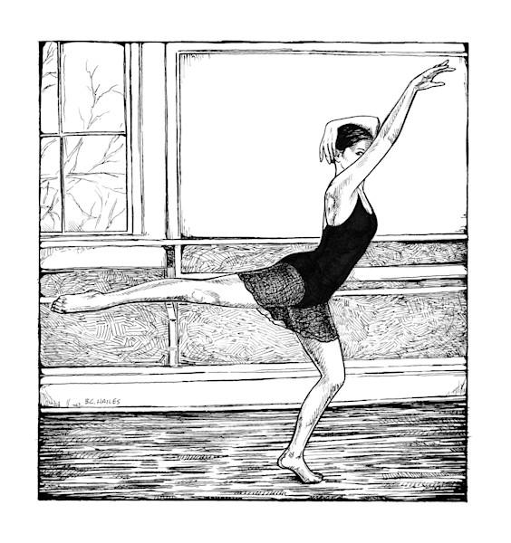 Mystery ballet dance art print