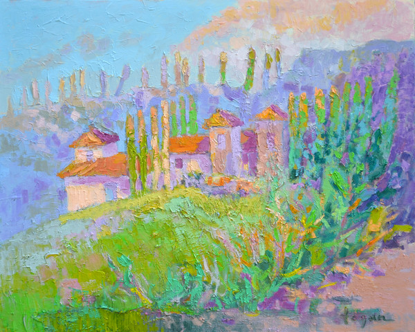 The Villa Tuscan Landscape Fine Art Print Dorothy Fagan Collection