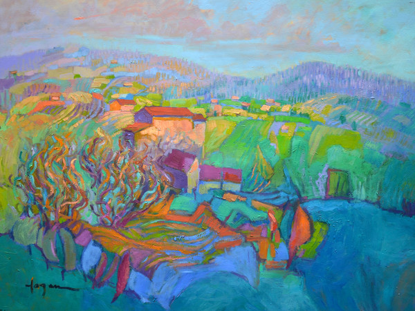 Joy's Garden Tuscan Mountain Landscape Fine Art Print Dorothy Fagan Collection