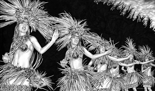 Hula dancing art print