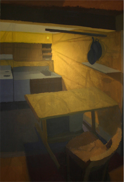Shop for original paintings like Yellow Kitchen, oil on canvas by Shannon Rogers at Matt McLeod Fine Art Gallery.