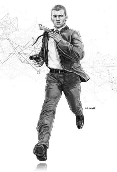 Officer Mic West Character Portrait Art