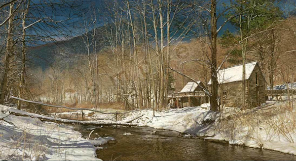 High Country Grist Mill on Fine Art Paper and Canvas for Sale