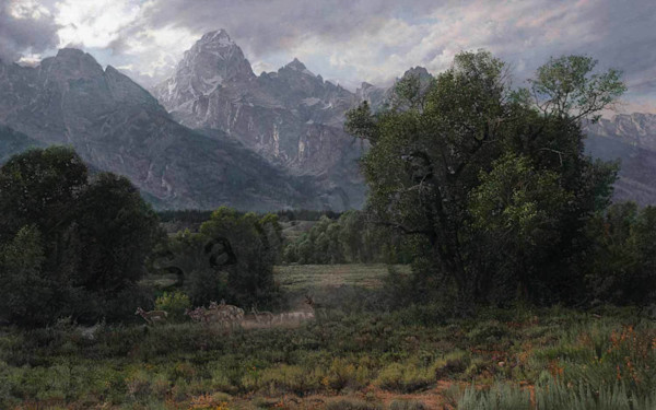 Twilight in the Tetons on Fine Art Paper and Canvas for Sale