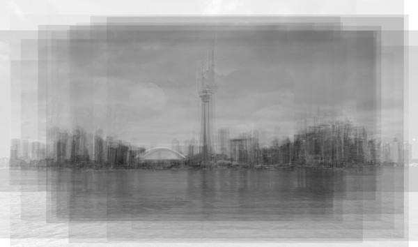 Overlay art – contemporary fine art prints of the CN Tower Toronto Skyline