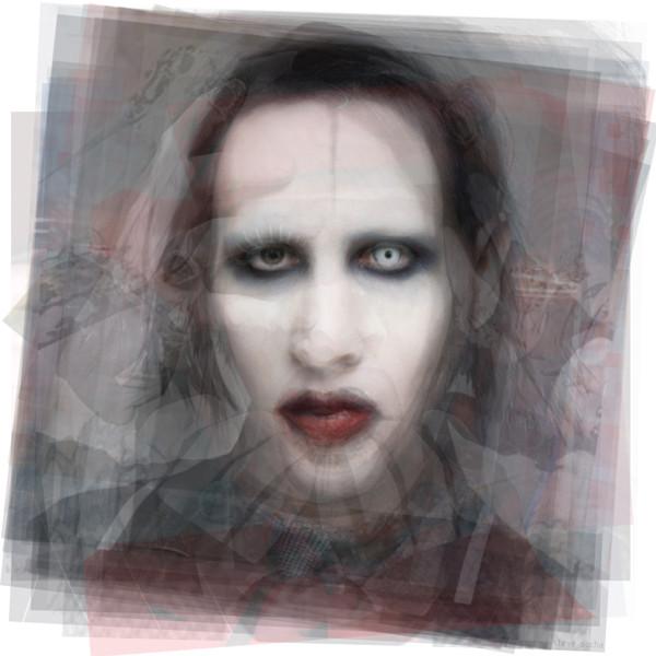 Overlay art – contemporary fine art prints of Marilyn Manson