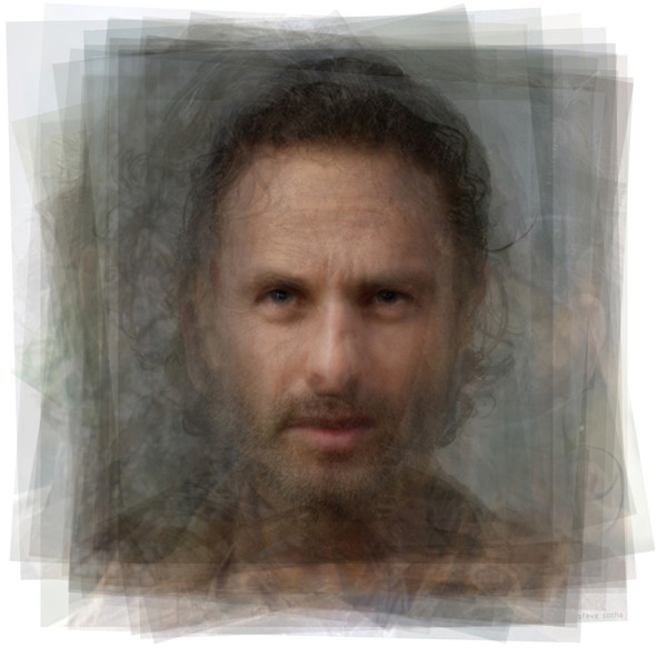 Overlay art – contemporary fine art prints of Rick Grimes, the Walking Dead