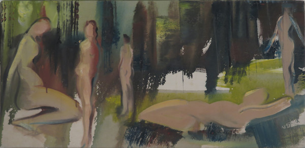 Bathers abstract painting for sale