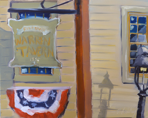 Warren Tavern painting by Paul William | Art for Sale