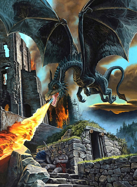 Dragon Attack print | Kevin Grass Fine Art