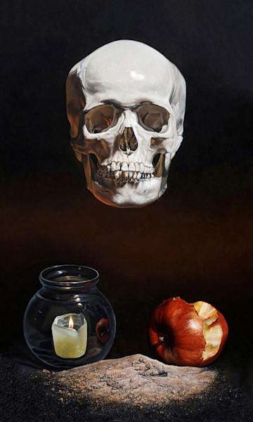 Memento Mori skull art print | Kevin Grass Fine Art