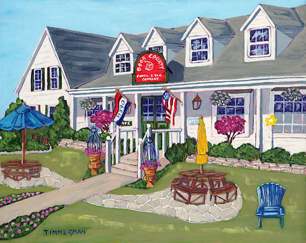 Door County Coffee print of a painting by Barb Timmerman.