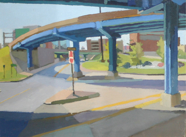 Shop for original paintings like Exit Ramp Under 1-30 Downtown Little Rock, oil on canvas by Shannon Rogers at Matt McLeod Fine Art Gallery.