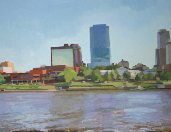 Shop for original paintings like Downtown Little Rock, oil on canvas by Shannon Rogers at Matt McLeod Fine Art Gallery.