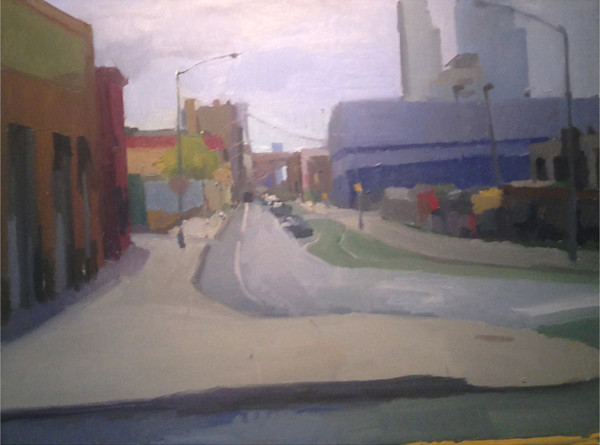 Shop for original paintings like Brooklyn Street View, oil on canvas by Shannon Rogers at Matt McLeod Fine Art Gallery.