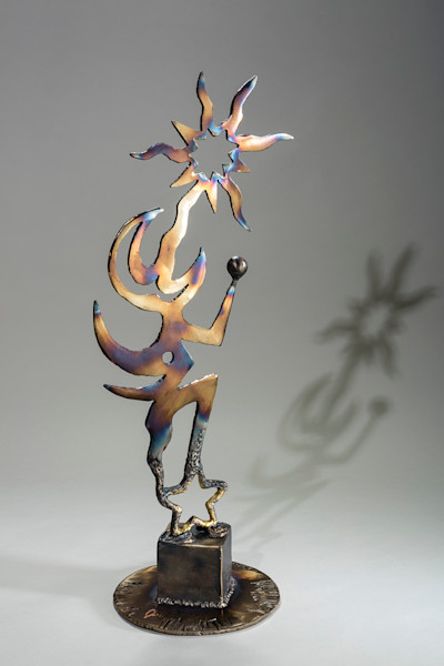 Shop for original metal sculptures like Celest, by Jeff Waddle at Matt McLeod Fine Art Gallery.