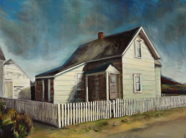 Mendocino Green Cottage Fine Art Print