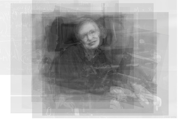 Overlay art – contemporary fine art prints of Stephen Hawking