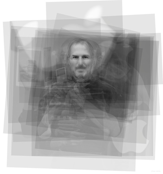 Overlay art – contemporary fine art prints of Steve Jobs