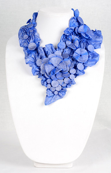 Tropical Floral in Blue with Sparkles