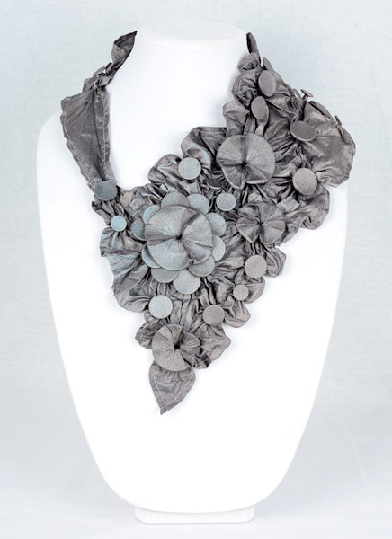 Tropical Floral in Grey with Sparkles