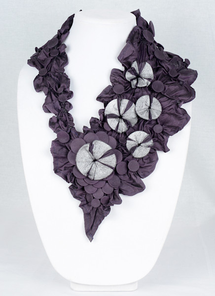 Tropical Floral in Purple with Silver Sparkles