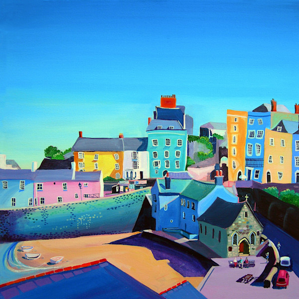 Art Print Tenby by Denise Di Battista