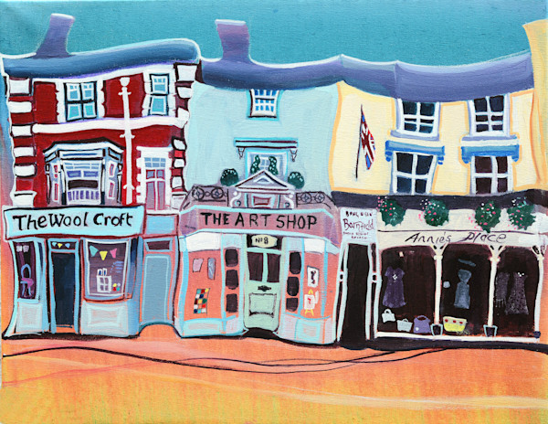 Abergavenny Quirky Art Print by Denise Di Battsita