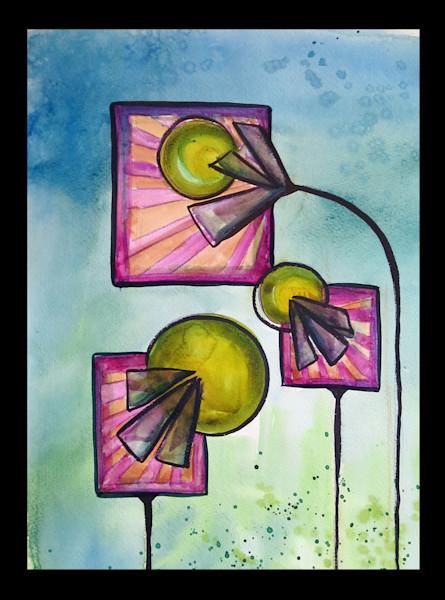 Square Flowers 11x17