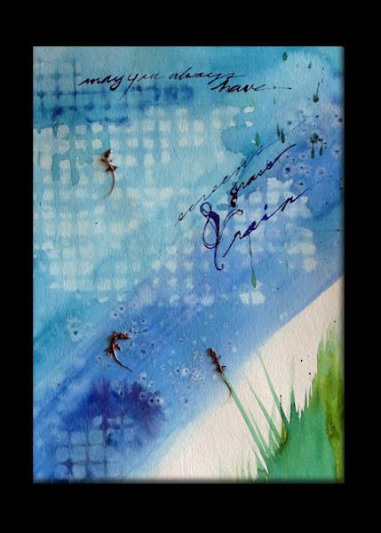 Screen, Grass and Rain 11x15