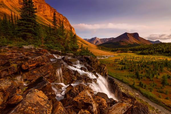 Art photos of the Valleys in the Canadian Rockies.