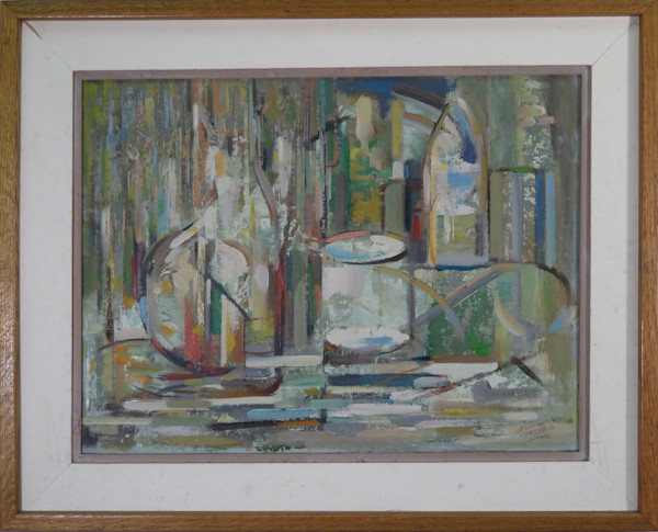 Still Life 1960 oil on canvas framed - Original