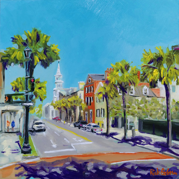 Oil Painting of Charleston King and Broad