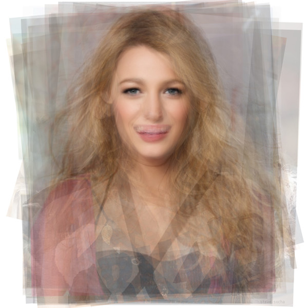 Overlay art – contemporary fine art prints of Blake Lively