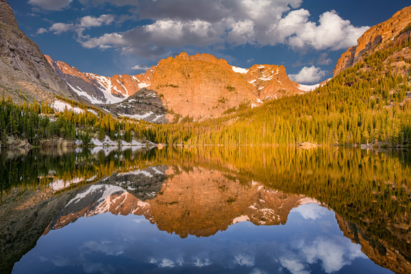 Landscape Photograph The Loch Reflections on Alpine lake at Rocky Mountain National Park