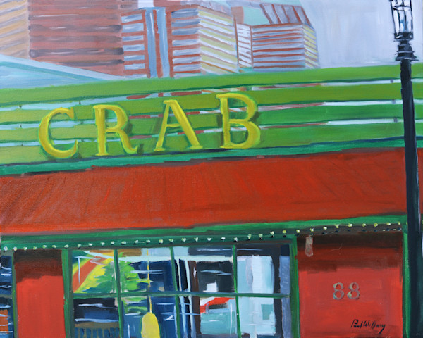Barking Crab painting by Paul William | Art for Sale