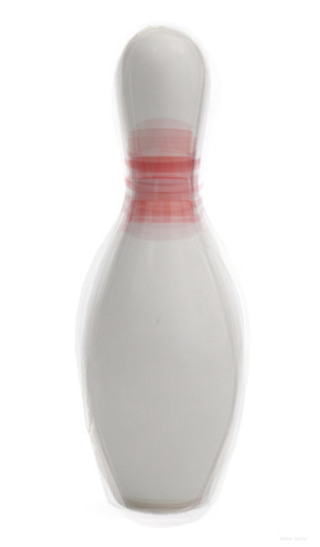 Overlay art – contemporary fine art prints of a Bowling Pin