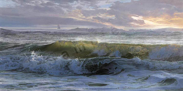 Atlantic Waves Painting for Sale