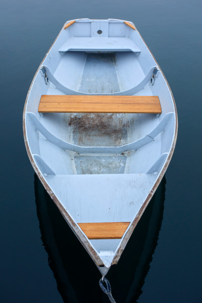 Cape Porpoise Rowboat I - Kennebunkport Maine Fine Art Nautical Boat Photograph